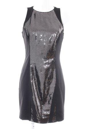 H&M Abito con paillettes nero stile festa