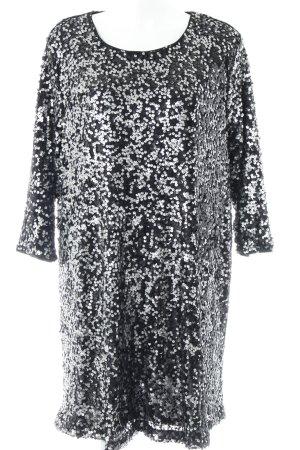 H&M Abito con paillettes nero-argento stile festa