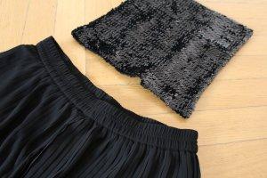H&M Pailletten Top Paillettentop schwarz S wie neu