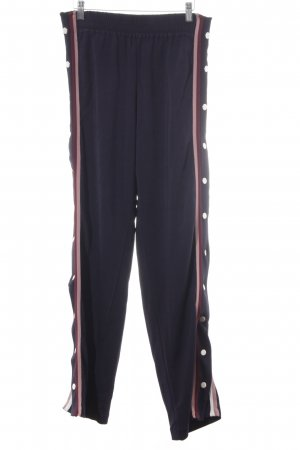 H&M Palazzo Pants dark blue-dusky pink striped pattern casual look