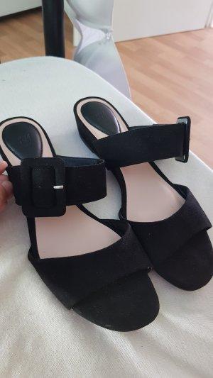 H&M Zomerschoenen met hak zwart