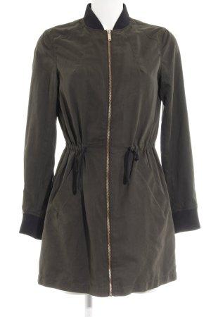 H&M Parka dunkelgrün-schwarz Casual-Look
