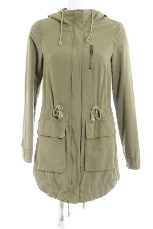 H&M Parka khaki-groen-grijs casual uitstraling