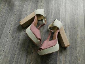 H&M Pastel Heels mit Blockabsatz