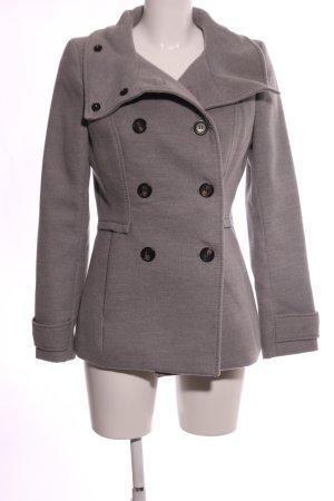 H&M Pea Coat light grey flecked casual look