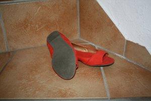 H&M Peeptoe Ballerinas in rot