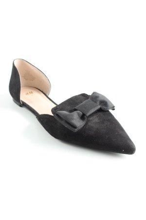 H&M Peep Toe ballerina's zwart casual uitstraling