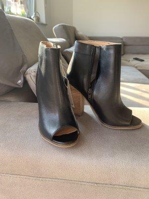 H&M Peep Toe Booties black