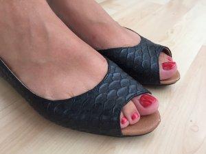 H&M Peep Toe Ballerinas black