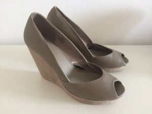 H&M Peeptoes Keilabsatz 41 Wedges neu flieder Pumps High Heels