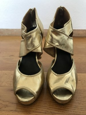H&M High Heel Sandal gold-colored-black