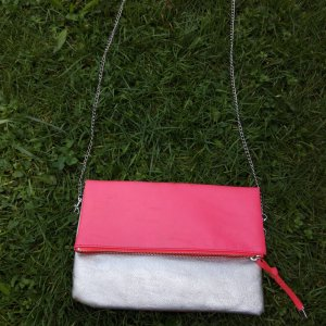 H&M pink-silver shoulder/clutch bag
