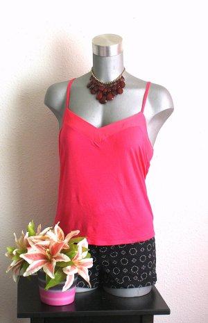 H&M Pink Top gr.42/44 Kurz Top Uni Basic