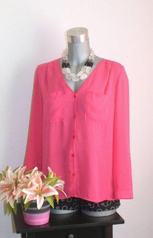 H&M Pinke Bluse Hemd Gr.40/42 Edel Design