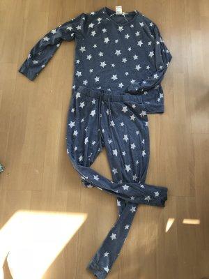 H&M Pyjama white-cornflower blue