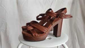 H&M Platform High-Heeled Sandal brown