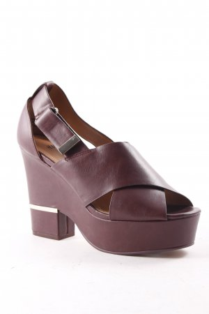 H&M Platform High-Heeled Sandal bordeaux extravagant style