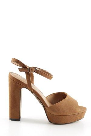 H&M Platform High-Heeled Sandal brown casual look
