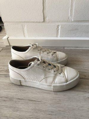 H&M Plateau Sneaker weiß