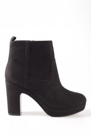 H&M Platform Booties black casual look