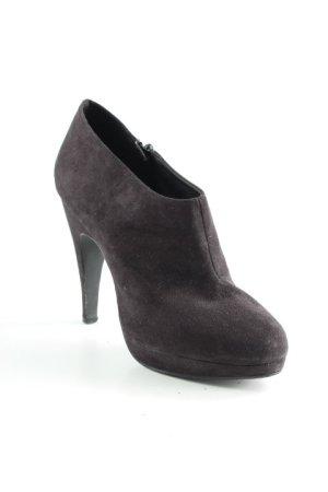 H&M Patucos con plataforma negro elegante