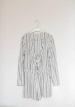 H&M Playsuit gestreift Jumpsuit mit Schleife Streifen Vintage Stil Gr. 38