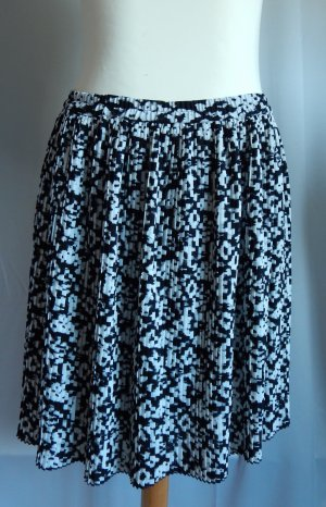 H&M Pleated Skirt black-white polyester