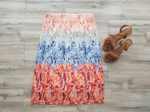 H&M Pleated Skirt apricot-light blue