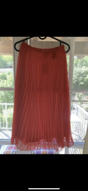 H&M Pleated Skirt red