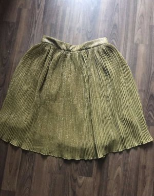 H&M Pleated Skirt olive green