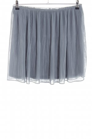 H&M Pleated Skirt pale blue classic style
