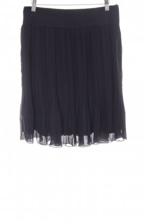H&M Pleated Skirt dark blue casual look
