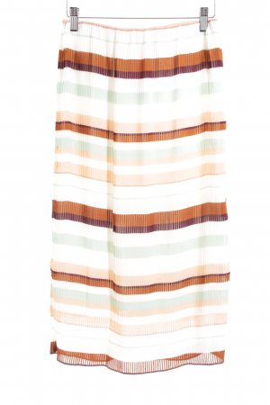 H&M Pleated Skirt striped pattern casual look