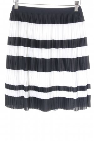 H&M Pleated Skirt white-dark blue