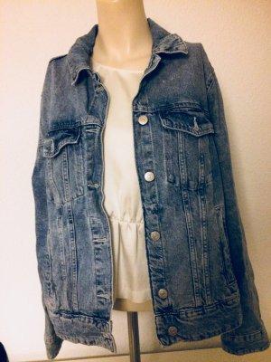 H&M Conscious Collection Veste en jean bleu acier coton