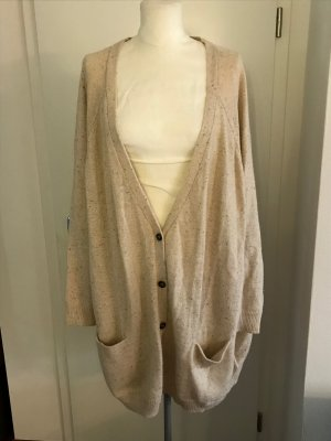 H&M Plus Size Cardigan Gr.3XL 52/54 beige Strickjacke