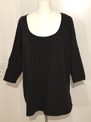 H&M Plus Size Pullover Shirt Gr.3XL Gr.50/52 Punkteshirt