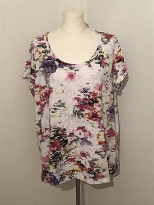 H&M Plus Size Shirt T-Shirt Gr.3XL Gr.50/52  Blumentprint