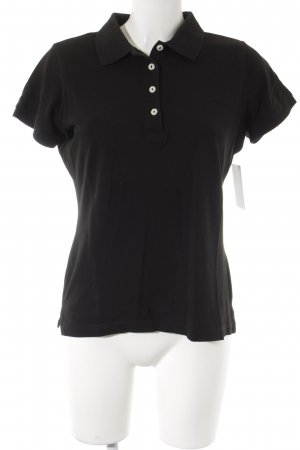 H&M Polo-Shirt schwarz Casual-Look