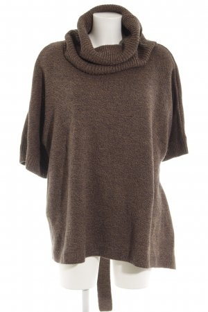 H&M Poncho bruin-donkerblauw gestippeld casual uitstraling