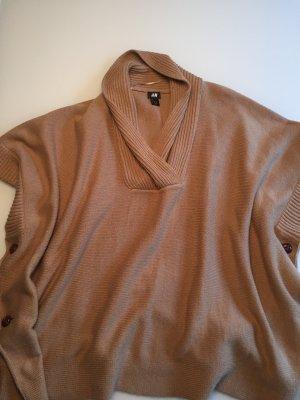 H&M Poncho, braun, One Size