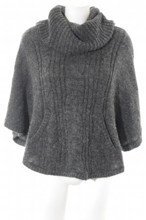 H&M Poncho donkergrijs Webpatroon casual uitstraling