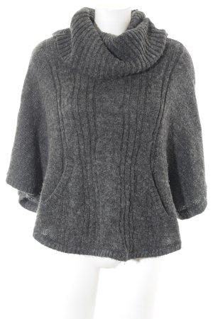 H&M Poncho gris foncé Motif de tissage style décontracté