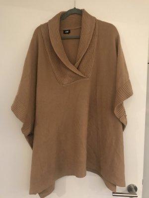 H&M Gebreide poncho beige-camel