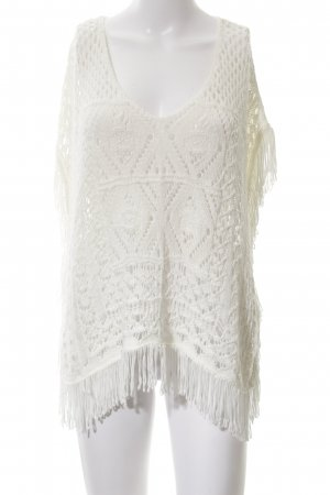 H&M Poncho blanc style bohème