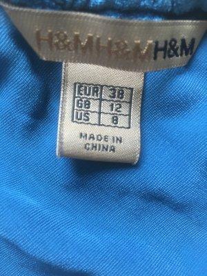 H&M Premium Gonna midi blu cadetto Poliestere