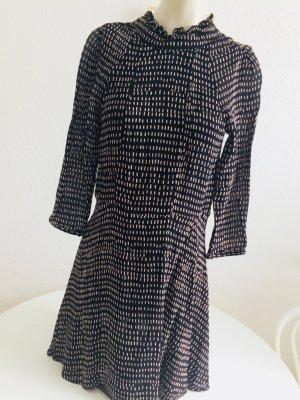 H &M Premium Chiffon Kleid Muster Print