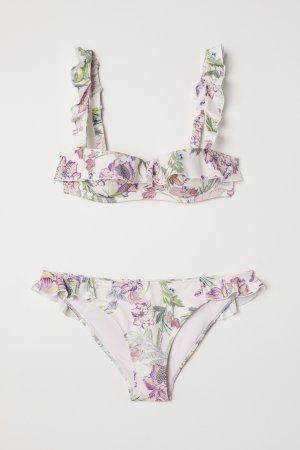 H&M Premium Collection Bikini mit Blumenmuster geblümt Gr. 36 / S - NEU und ungetragen!