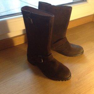H&M Premium Desert Boots brown leather