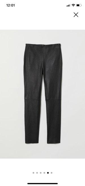 H&M Premium Leren broek zwart